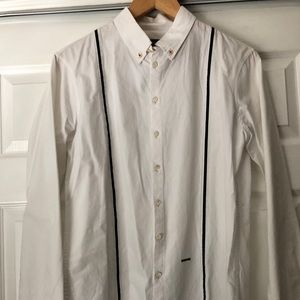 SOLD-Men Dsquared2 shirt with fake suspenders.